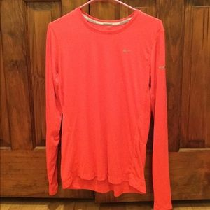 Nike Coral Dri-Fit running long sleeve